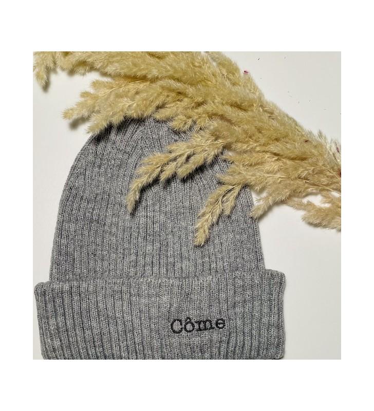 bonnet gris/fil gris anthracite